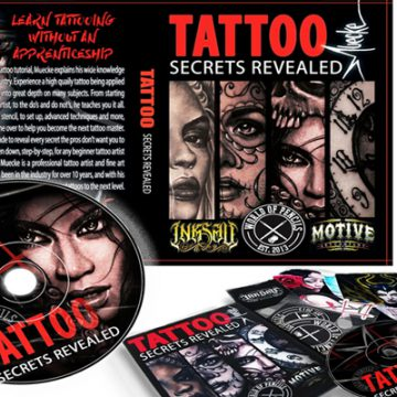 Instructional dvds tattoo machan for How to tattoo dvd